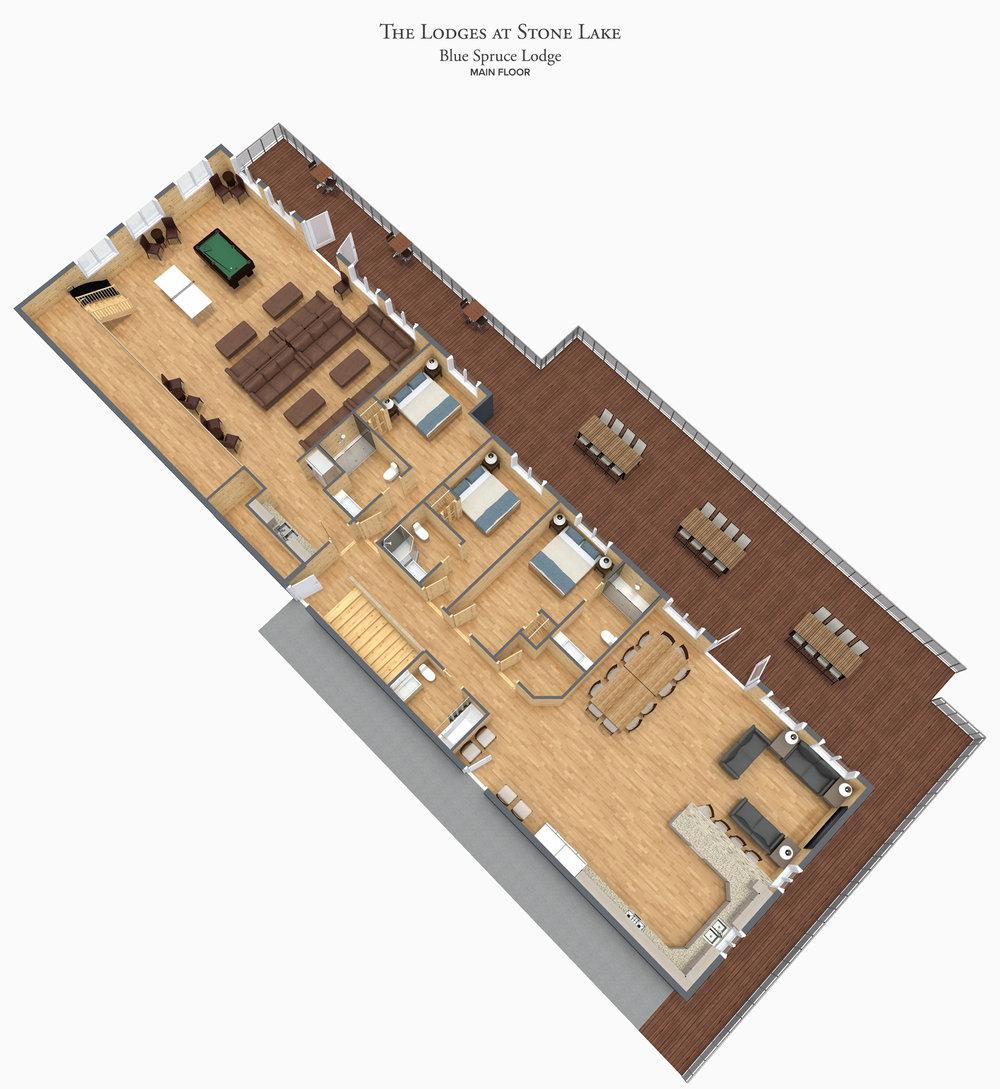 Blue Spruce - Main Level Floor Plan - The Lodges at Stone Lake.jpg