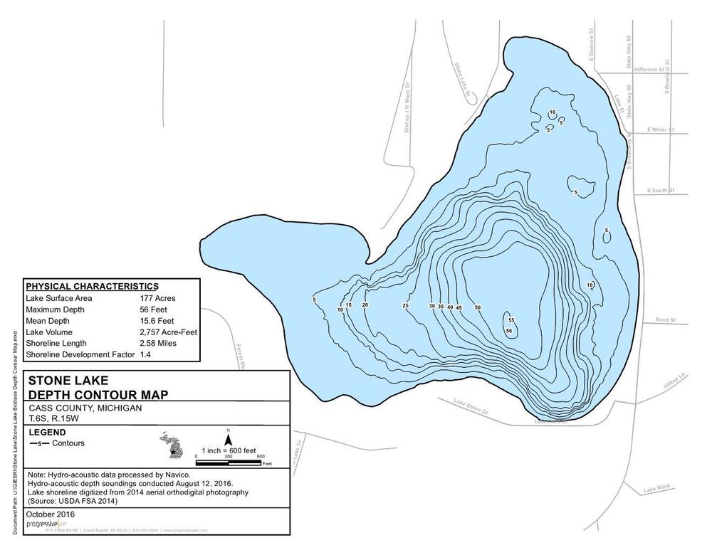 Stone Lake Contour Map.png