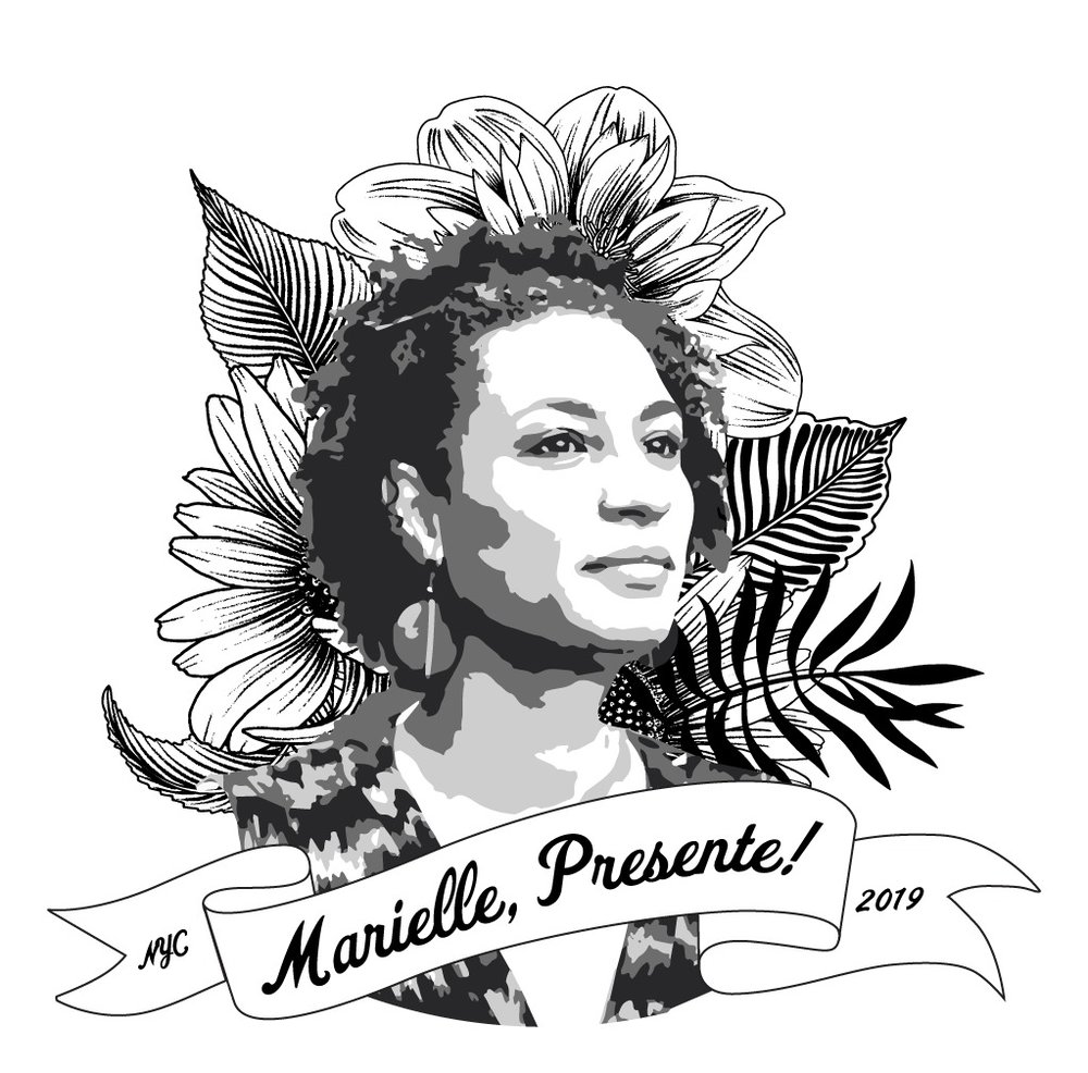 March 14, 2019 - 6-8pm at the New York University: Honoring Marielle Franco. Image design: Keka Marzagão