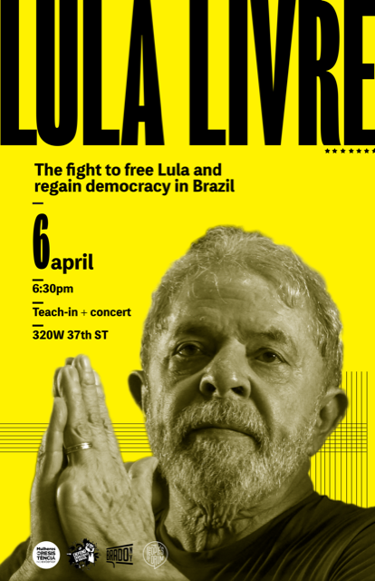Poster o f Teach In at The People's Forum, New York, April 6, 2019