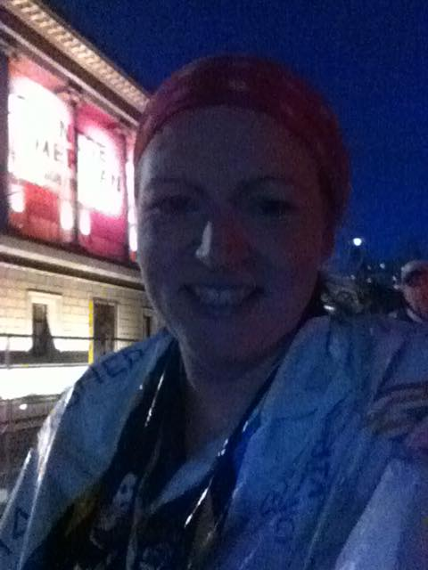 AJ Frenzel, on the evening she finished her first marathon.