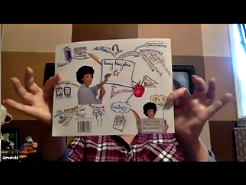 Entrepreneur Amanda Lathrop shows viewers a sample Mind Map.