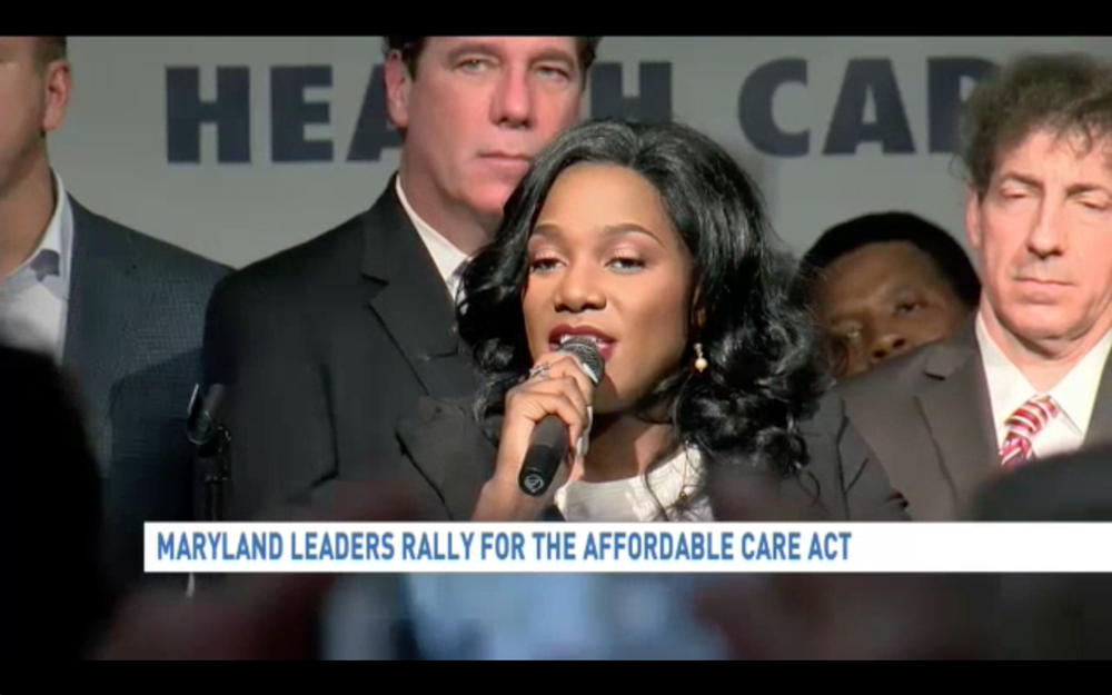 ola ojewumi in Maryland leader rally for affordable care act