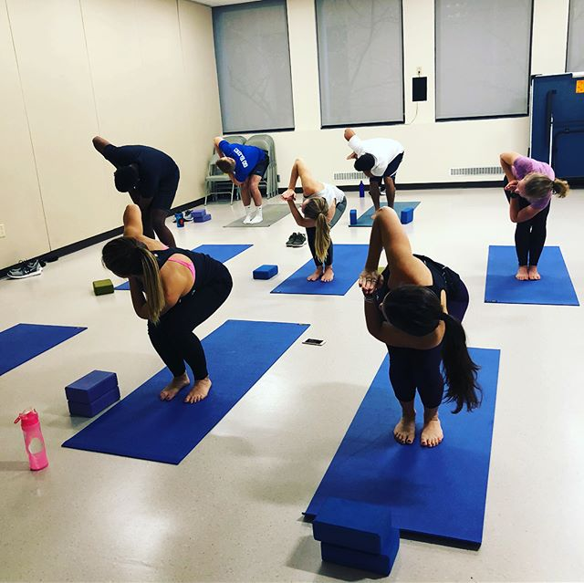 The ASDA Wellness committee organized a free yoga class in the wellness center tonight! An instructor came and led the class through relaxation and yoga techniques. It was a great study break and a way for everyone to relax a little on this Thursday evening. Thanks wellness committee!!