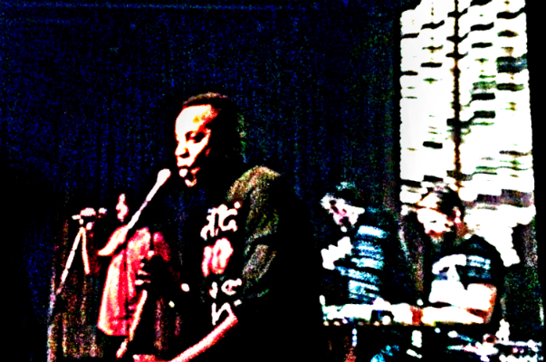 """""""True Believer"""" at Brick & Mortar Music Hall, San Francisco, CA: (l to r) Diggs, Outlaw, Hutson, Snipes  Photo by Brian Uhl"""
