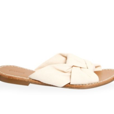 White Knot Sandals