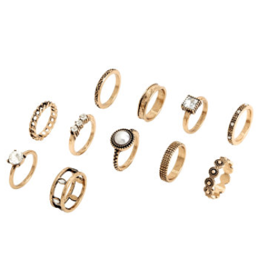 Detailed Gold Rings