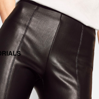 Faux Leather Leggins