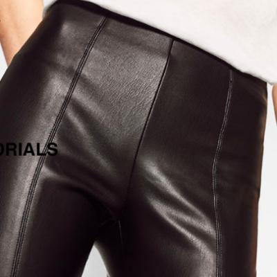 Faux Leather Leggins