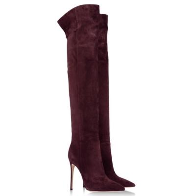 Burgundy Thigh Highs