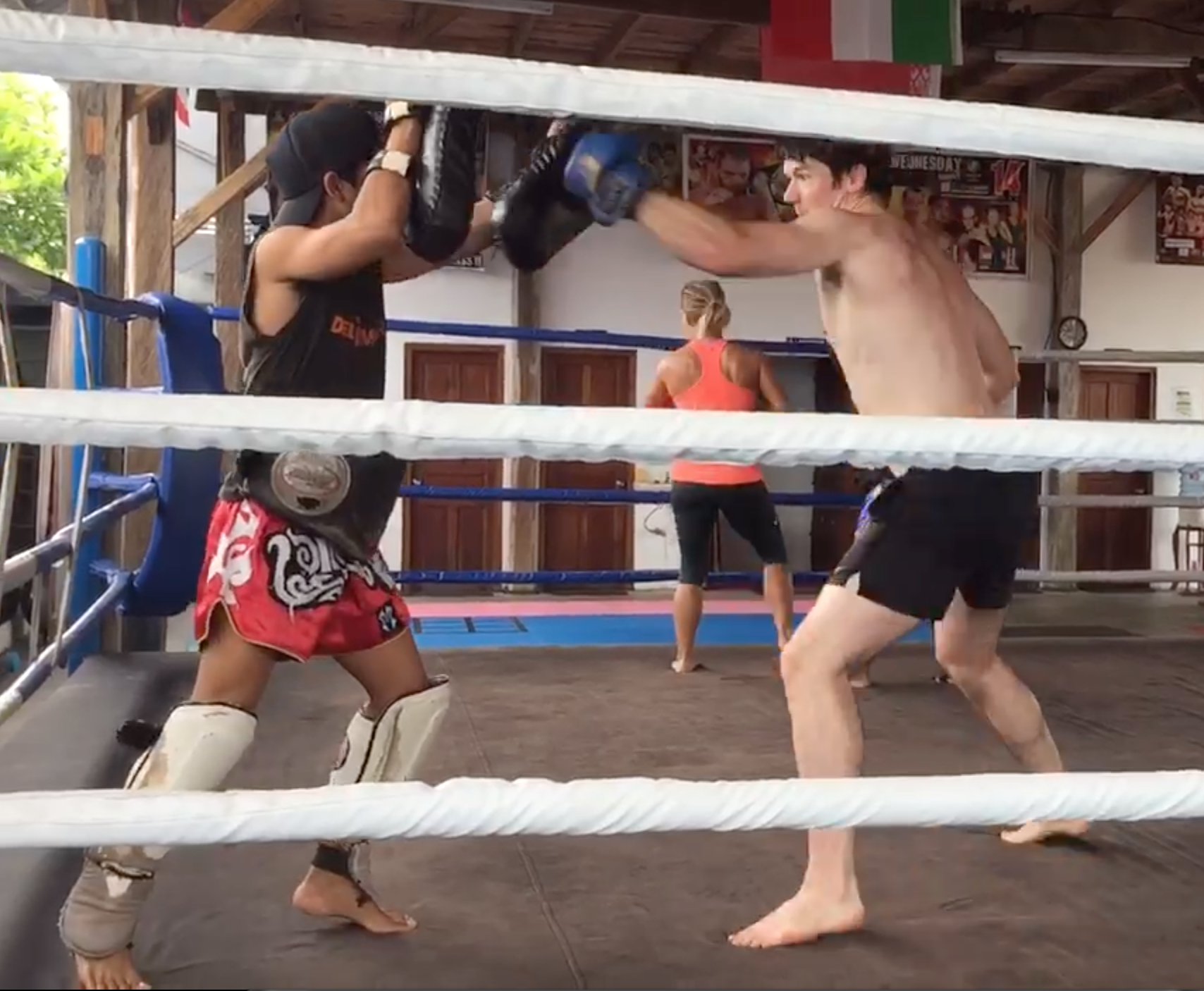 sparring session