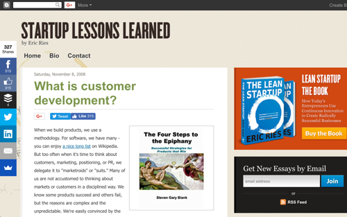 What is Customer Development? - Blog Post by Eric Ries