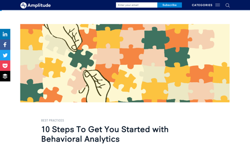 10 Steps To Get You Started with Behavioral Analytics - Blog Post by Sandhya Hegde