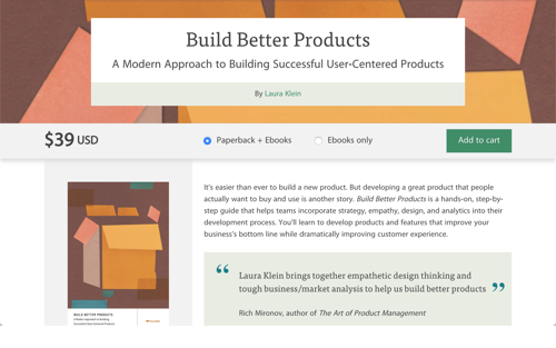 Build Better Products - Book by Laura Klein