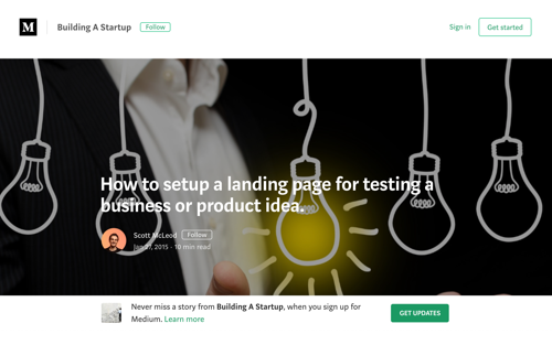 How to setup a landing page for testing a business or product idea - Blog Post by Scott McLeod