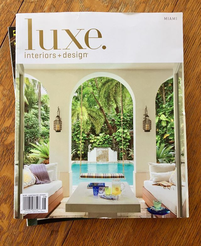 Thanks @luxemagazine for the great shoot with @bpiladesign in Miami, and the cover! Check it out in the current issue.