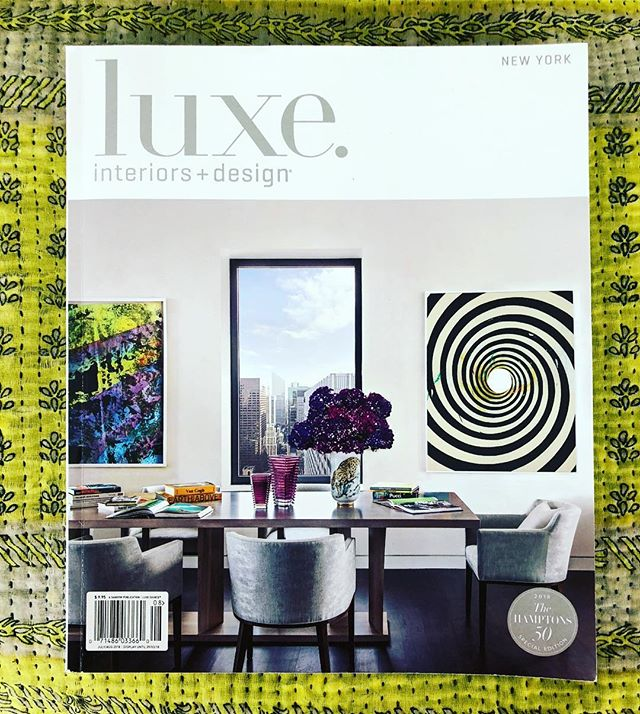 So glad for another amazing shoot and Cover with @luxemagazine and @nicolefullerinteriors checkout this beautiful NY apartment in the current issue. #interiors #luxemagazine