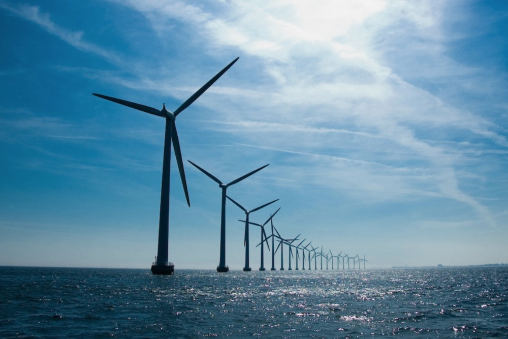 A  wind farm  off the coast of Germany taps an abundant power source while minimizing interference with migratory flyways. Researchers estimate offshore wind could supply roughly 17.1% of US energy demand.