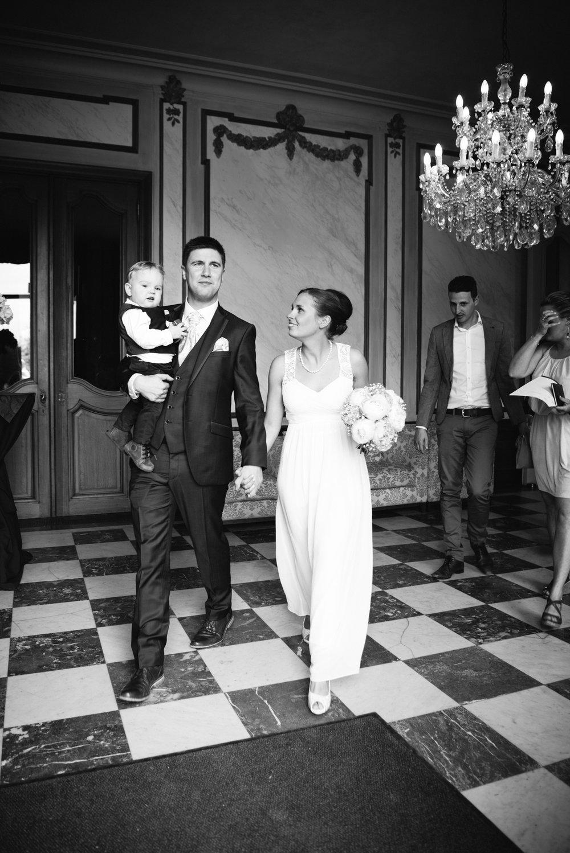 bruid bruidegom zoontje