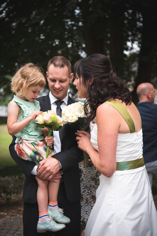 Huwelijksfoto kind