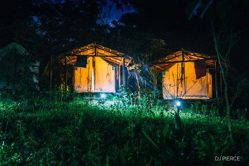 Platform Tents w/ Shared Bath   Single occupancy (full):  $1,815pp