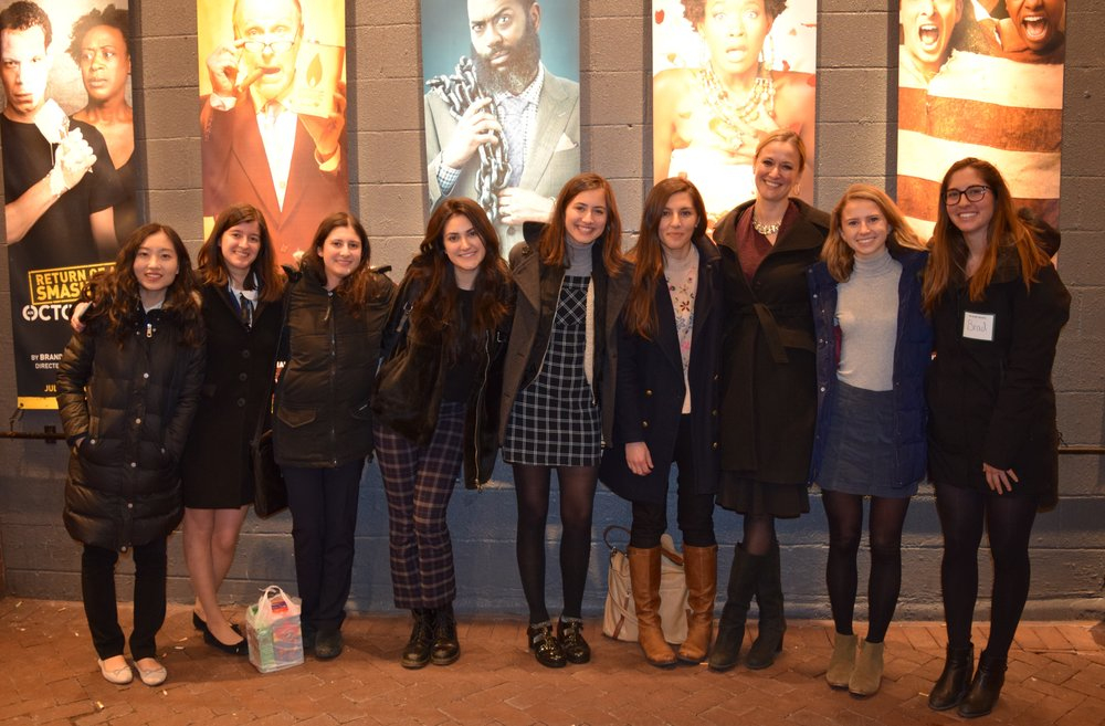 Celebrating women writers. With students after attending Danai Gurira's  Familiar  play at Wolly Mammoth Theatre.