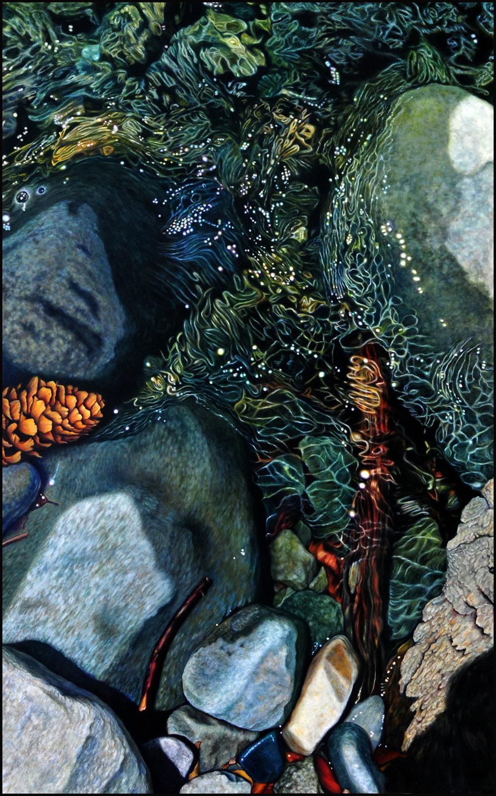 Below Zapatta Falls   Oil on canvas 8'x5'