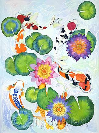 Koi 2   , watercolor