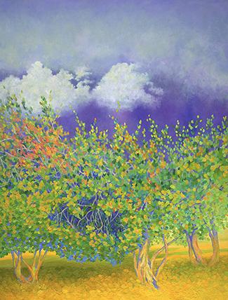 Lynne's Trees   , oil
