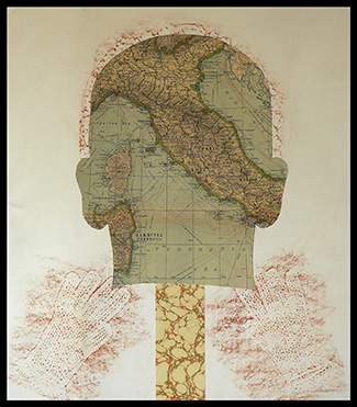 Phrenology IV, monoprint