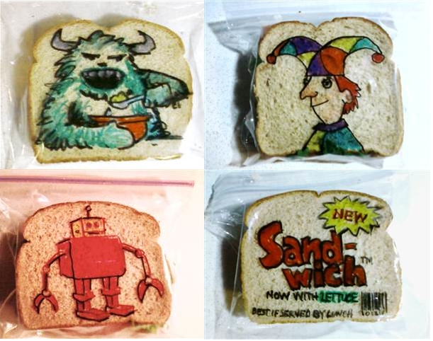 dad doodles sandwich baggies