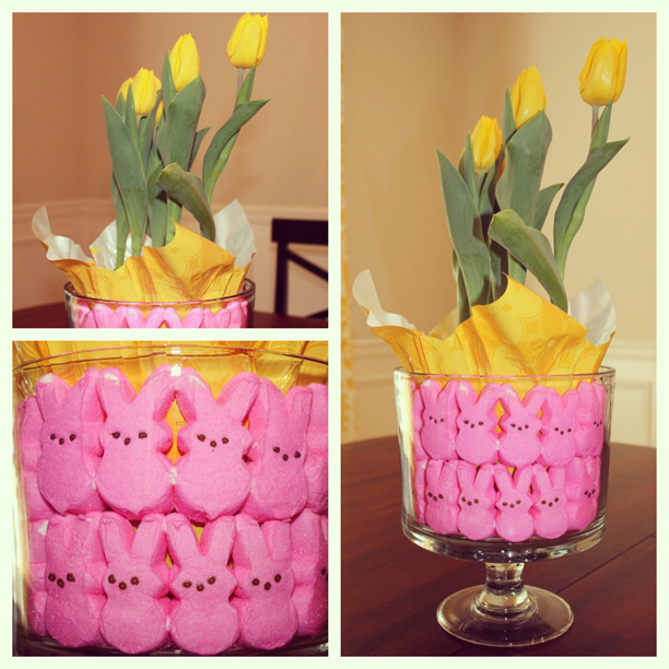 Easter centerpiece in a pinch