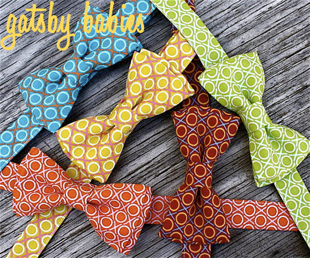 Baby Boy Bowties from littlevys @ohbotherblog