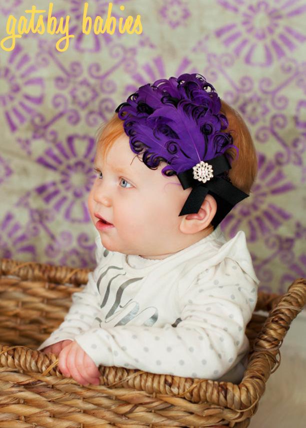 Baby Flapper Headband from ALittleLadyBowtique @ohbotherblog