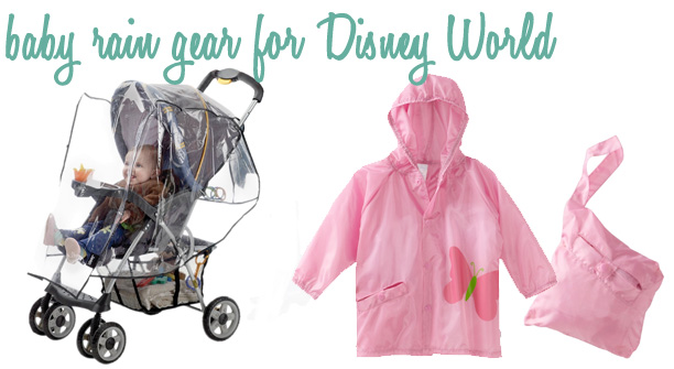 How to get deliveries at Disney World - Pinner ordered rain gear baby @ohbotherblog