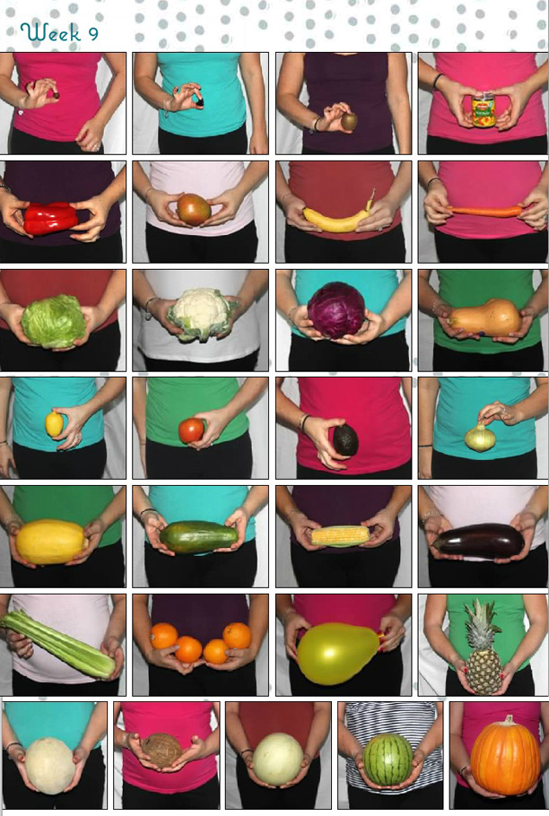 belly bump fruits and vegetables