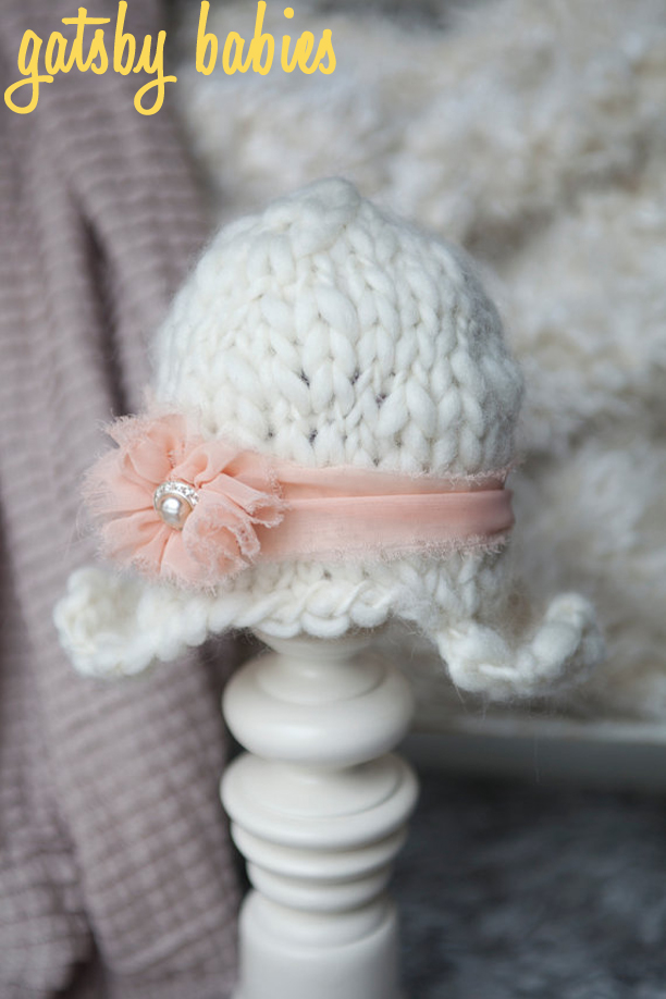 Handspun Yarn Baby Flapper Hat from Pup and Frank @ohbotherblog