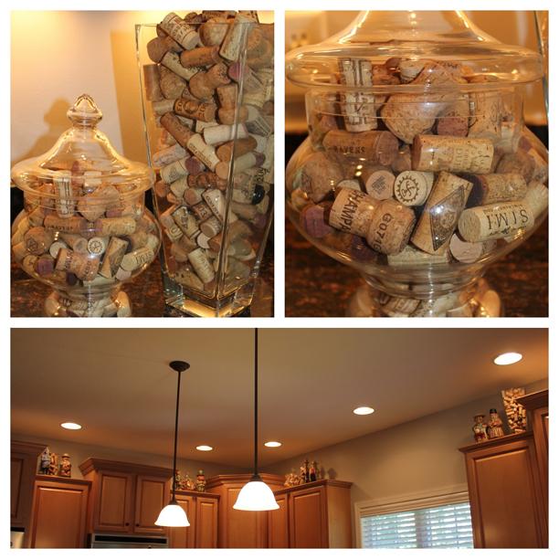 Corks as decoration @ohbotherblog