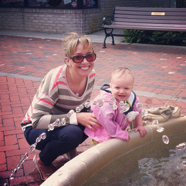 Playing in the fountain in Cape May @ohbotherblog