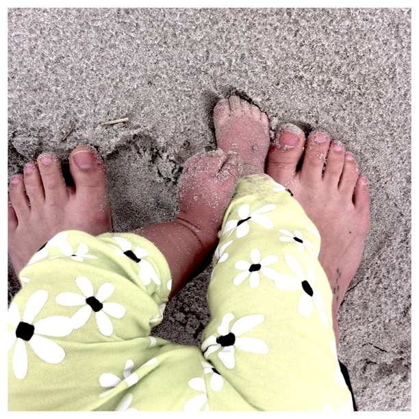 Baby toes in the sand @ohbotherblog