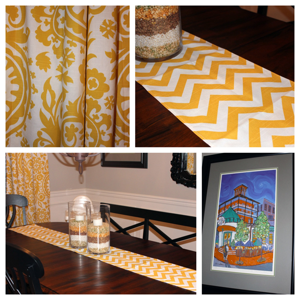 Yellow and Gray Dining Room @ohbotherblog