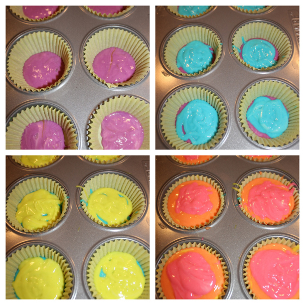 Rainbow Cupcake, Take 2: Pinterest Win @ohbotherblog