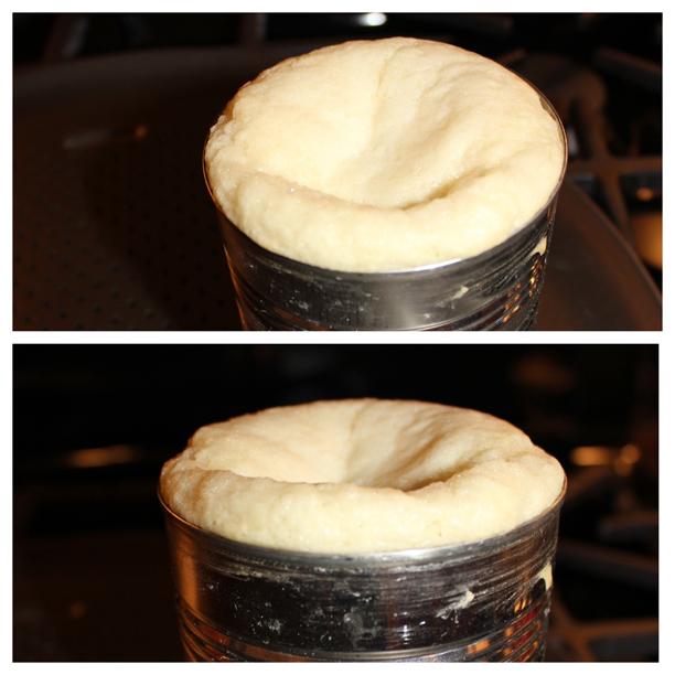 Mini Cake Fai Step 3: deflated top @ohbotherblog
