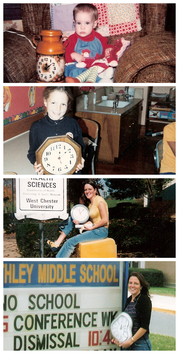 Take a picture of your child every year on their birthday, holding a clock, at the time they were born. @ohbotherblog