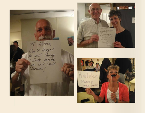 Grandparents write messages to the baby before he/she arrives @ohbotherblog