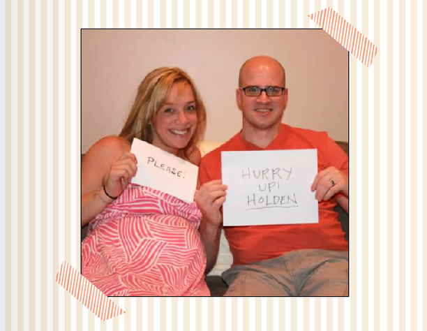 Parents write a message to the baby before he/she is born @ohbotherblog