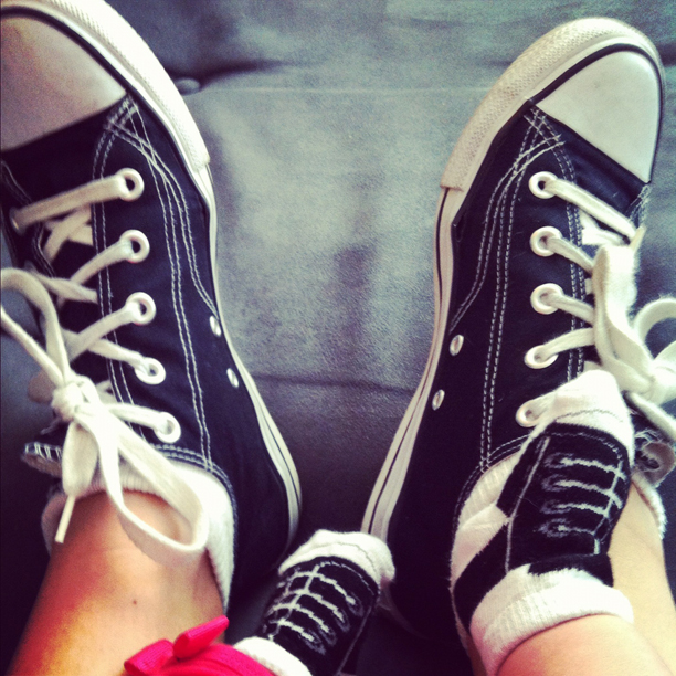 Mommy-baby Chuck Taylors @ohbotherblog