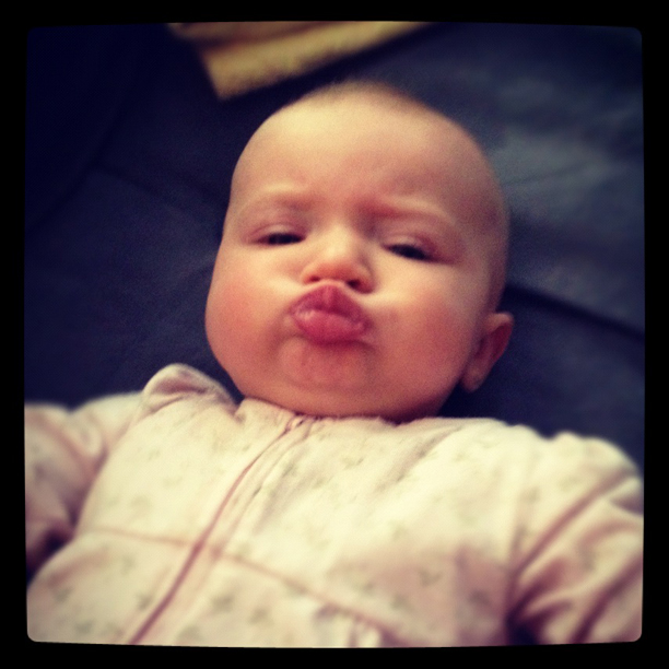Baby Duck Face @ohbotherblog