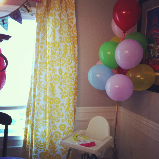 A colorful first birthday party @ohbotherblog