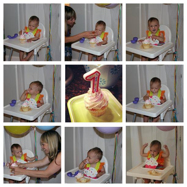 First Birthday Smash Cake @ohbotherblog